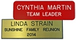 "NBN13 - Standard Engraved Name Badge Text Only 1""x3"""