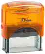 S844O - Shiny S-844 Orange Self-Inking Stamp