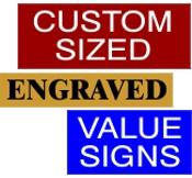 Custom Value Sign