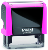 Trodat Printy 4913 Neon Pink Self-Inking Stamp